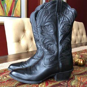 Ariat black leather cowboy boots